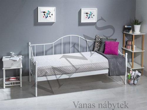Kovaná postel  DOVER 90x200 cm v bílém provedení