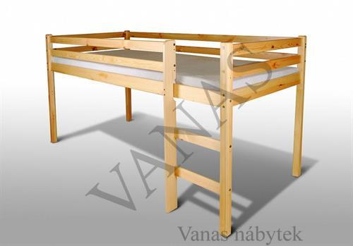 Zvýšená postel z masivu borovice
