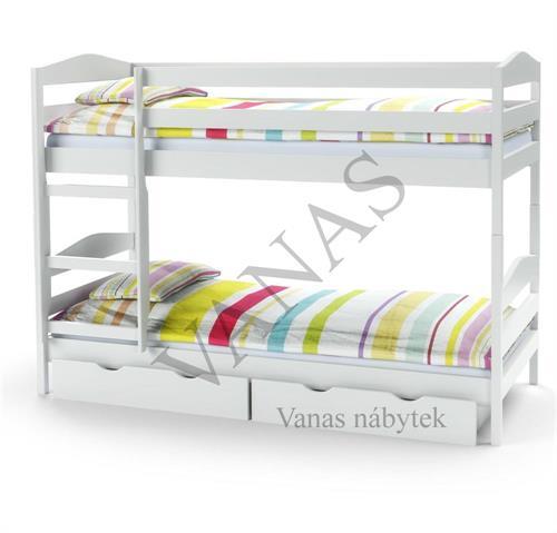 Patrová postel SAM v bílém provedení