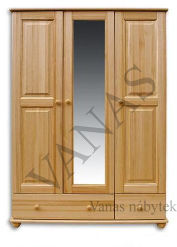 skříň z masivu (133x190x60 cm